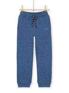 Jogging bottoms - boy child - mottled blue LOJOJOB3 / 21S90243JGB222