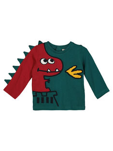 Baby boys' printed long-sleeved T-shirt GUVETEE / 19WG1021TML608