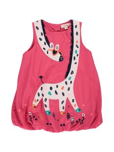 Baby girls' sleeveless dress CIHOROB1 / 18SG09E1ROBF503