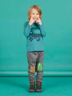 Child boy grey fleece jogging pants MOTUJOG / 21W902K1JGBJ922
