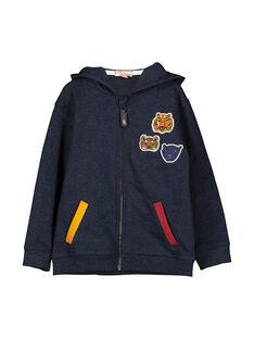 Boys' zipped hoodie FOBAGIL / 19S90261GIL070