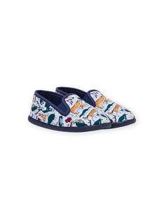 Grey mottled animal print slippers for boys MOPANTANIM / 21XK3622D0B943