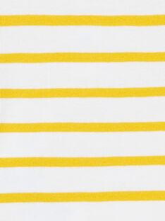 White and yellow striped cotton bodysuit baby boy LUNOBOD / 21SG10L1BOD000