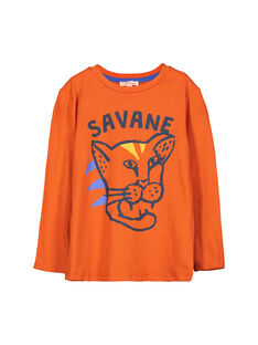 Boys' long-sleeved T-shirt FOJOTEE2 / 19S90232D32409
