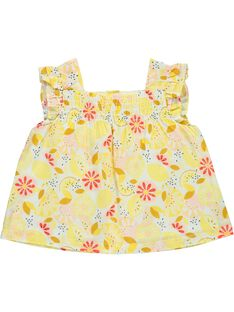 Baby girls' flared smock CIPICHEM2 / 18SG09I2CHE099