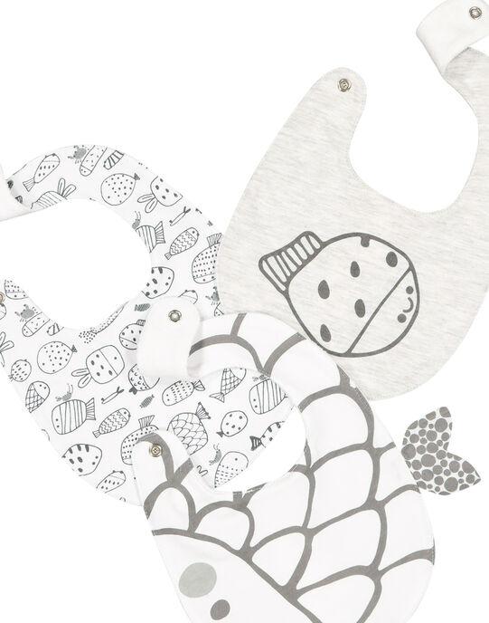 Pack of unisex babies' bibs FOU1BAV / 19SF4211BAV943