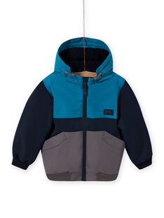 Baby boy three-colored hooded jacket MOGROBLOU3 / 21W90252BLOC243