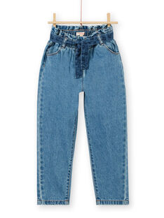 Jean paper bag and blue cotton belt LABLEJEAN / 21S901J1JEAP274
