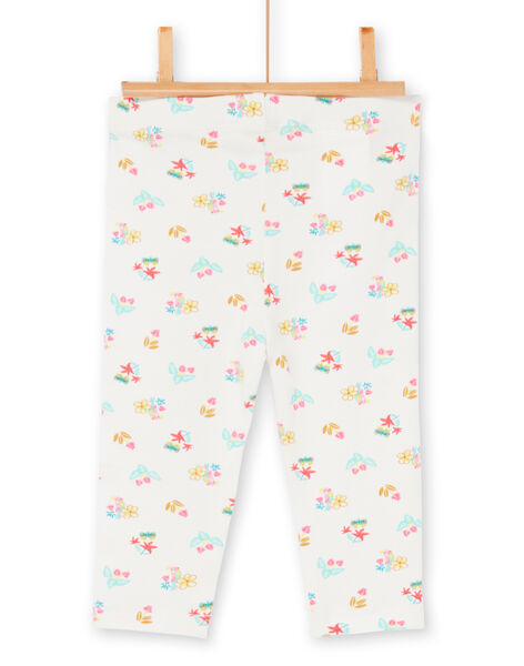 Leggings ecru baby girl LYIVERLEG / 21SI09Q1CAL001