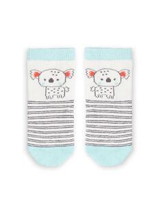 White and sky socks with stripes baby boy LYUPOECHO1 / 21SI10Y1SOQ001