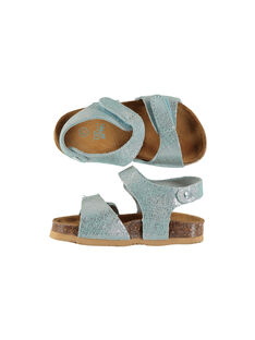 Baby girls' smart leather sandals FBFNUICE / 19SK37D5D0E020