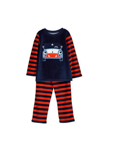 Boys' velour pyjamas FEGOPYJVOI / 19SH1241PYJ070