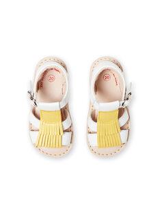 White sandals baby girl LBFSANDALMA / 21KK3752D0E000