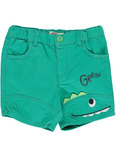 Baby boys' green shorts CUDOUBER1 / 18SG10J1BER613