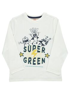 Boys' Super Green long-sleeved T-shirt DOVETEE2 / 18W90272TML001