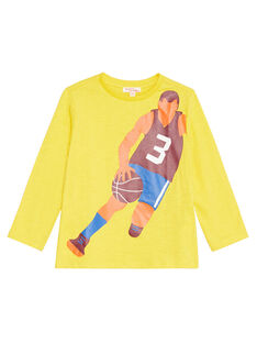Golden yellow LONGSLEEVE T-SHIRT KOJOTEE4 / 20W90235D32106