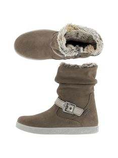 Girls' leather boots DFBOTTEMA1 / 18WK35T8D10803