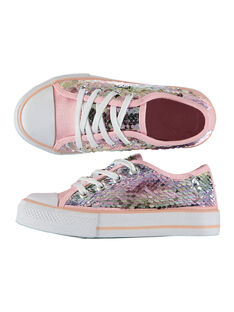 Girls? sequin canvas trainers FFTENSEQU / 19SK35C2D16030
