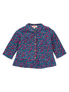 Baby girls' floral blouse GIMUCHEM / 19WG09F1CHE070