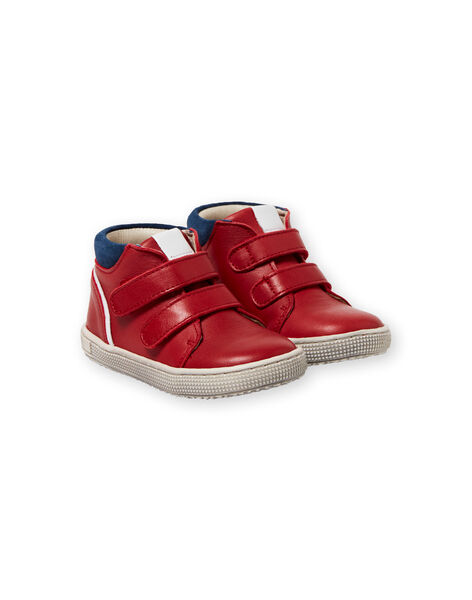 Baby boy navy blue and red sneakers LBGBASRED / 21KK3831D3F050