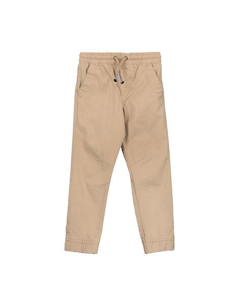 Boys' beige canvas trousers FOJOPANT4 / 19S90238D2BI807
