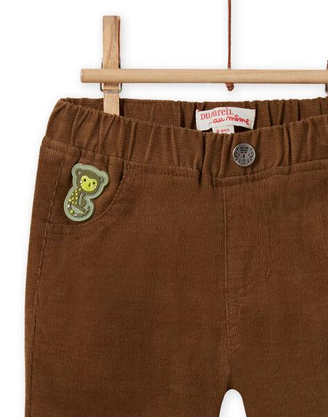 Baby boy brown corduroy pants MUKAPAN2 / 21WG10I1PAN803