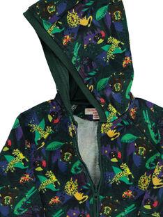 Baby boys' zipped hooded jacket DUVIOGIL / 18WG10H1GIL099