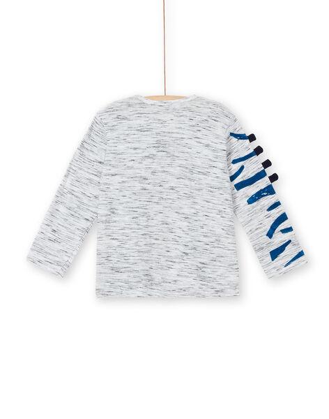 T-shirt mottled gray zebra pattern child boy LOBLETEE3 / 21S902J2TMLJ920
