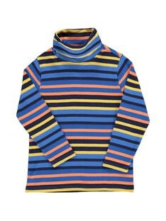 Boys' striped polo neck DOBLESOUP / 18W90291SPL099