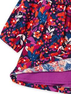 Baby girl's colorful floral print long sleeve dress MIPAROB1 / 21WG09H6ROBD319