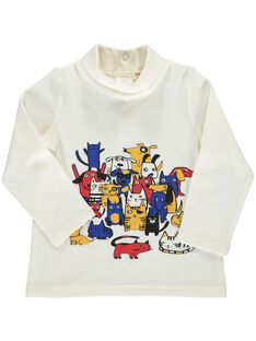 Baby boys' 'cats and dogs' polo neck DUCHOSOUP / 18WG10F1SPL001