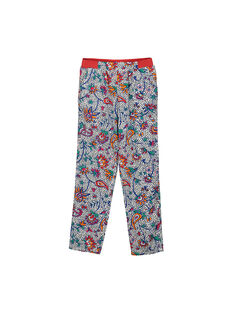 Girls' printed loose trousers FATOPANT / 19S901L1PAN099