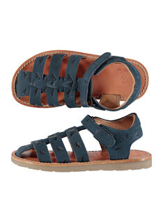 Boys' smart leather sandals FGSANDINO1 / 19SK36C1D0E070