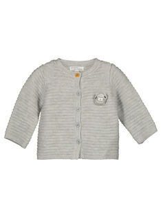 Unisex babies' garter stitch cardigan GOU1GIL / 19WF0511GILJ922