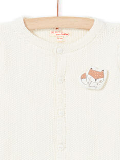 Off white knitted cardigan with fox pattern mixed birth MOU1GIL2 / 21WF0541GIL001