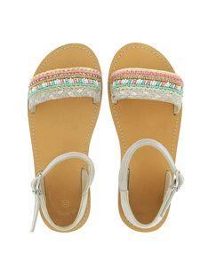 Girls' leather sandals CFSANDSIR / 18SK35WGD0E001