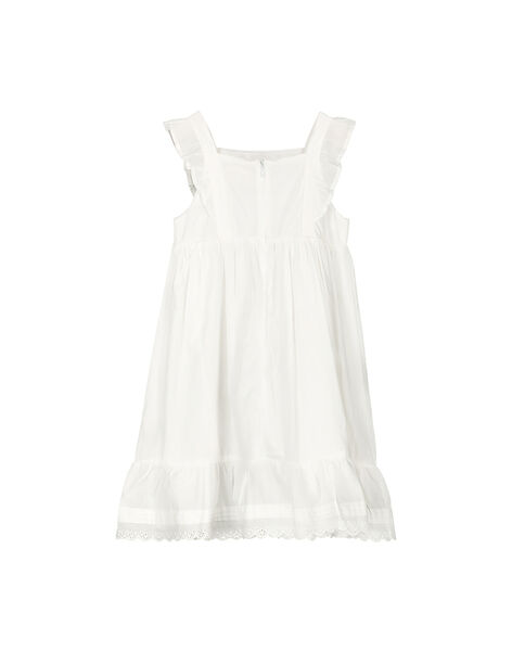 Girls' cotton dress FAPOROB6EX / 19S901C8ROB000