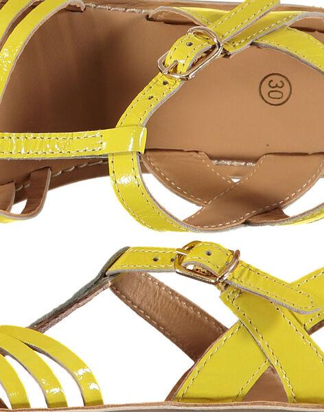 Girls' smart patent leather sandals FFSANDOLI1 / 19SK35C4D0E010