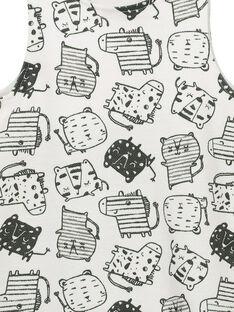 Unisex babies' printed short dungarees FOU2SAC / 19SF05J1SAC099