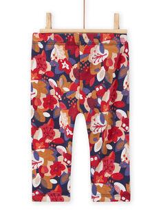 Baby Girl Floral Print Pants MIFUNPAN / 21WG09M1PAN070