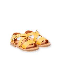 Baby girl yellow sandals LBFSANDSUN / 21KK3758D0E010