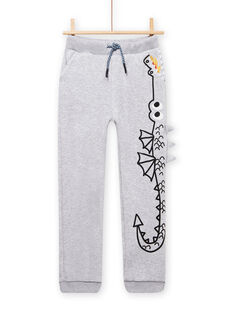 Grey mottled jogging suit with dragon motif child boy MOPLAJOG / 21W902O1JGBJ922
