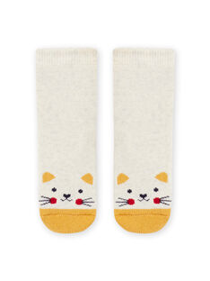 Baby girl beige cat socks MYIJOSOQB2 / 21WI0916SOQA011