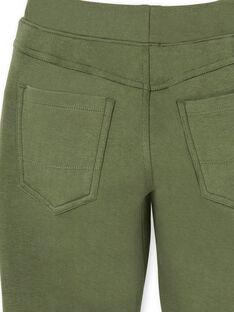 Green cotton pants boy child LOJOPAN2 / 21S90234PANG631