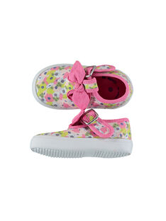Baby girls' canvas T-bar shoes FBFSALCER / 19SK37C1D17030