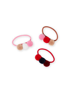 Girl's assorted elastic bands MYAJOELA7 / 21WI01S3ELA420