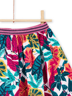 Girl's reversible skirt with flowery print MATUJUP1 / 21W901K1JUPH705