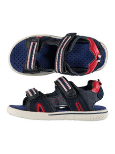 Boys' smart sandals in two fabrics FGSANDSPOR / 19SK36D1D0E070