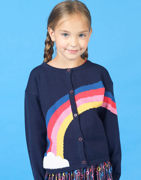 Navy blue and red vest for girls LAHACAR / 21S901X1CAR070