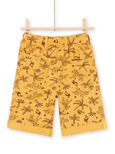 Boy's mustard yellow Bermuda shorts LOTERBER2 / 21S902V3BERB101